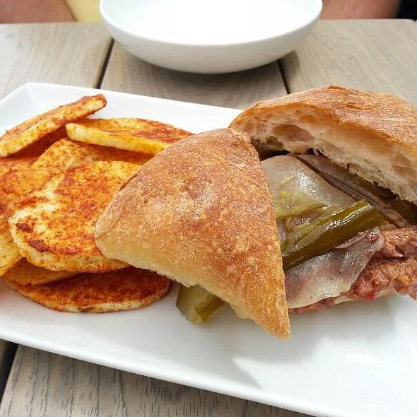 BBQ Brisket And Kimchee Sandwich @ Seven Lamps