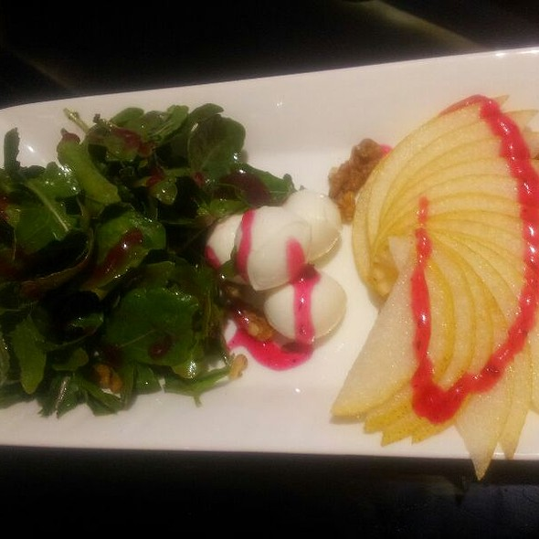 Rocket, Bocconcini And Pear Salad With Strawberry Vinaigrette  @ Le Cristaal