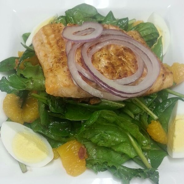 Grilled Salmon Salad - Woolley's Steakhouse, Bloomington, MN