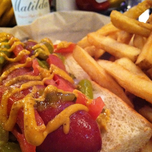 Colossal Chicago Style Hot Dog @ Harry Caray's Tavern, Navy Pier