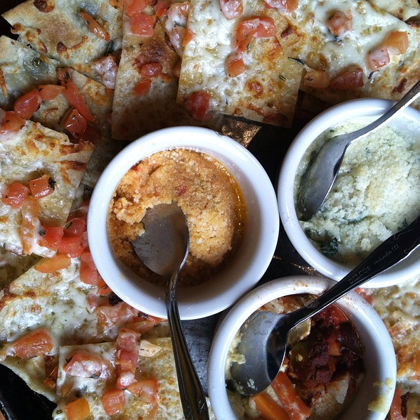 Trio Of Dips With Pizza Chips @ Lou Malnati's Pizzeria - South Loop