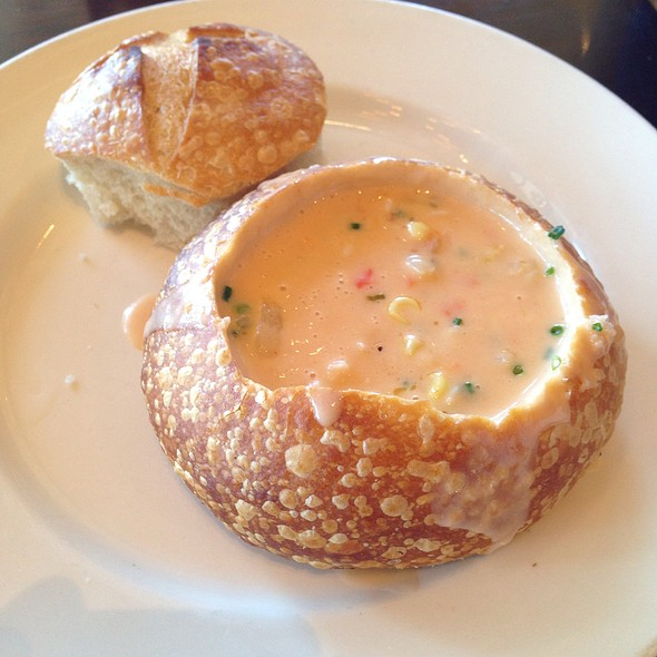 Corn and Crab Bisque @ Bistro Boudin