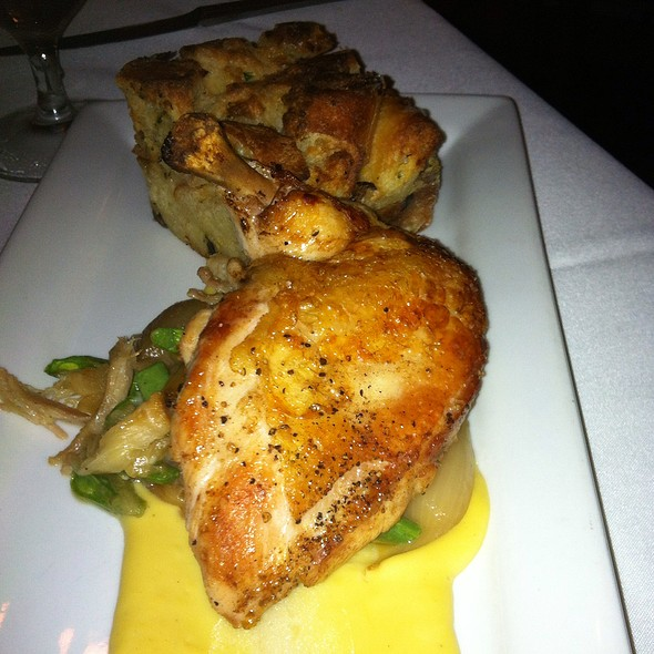 Pan Roasted Chicken With Savory Bread Pudding