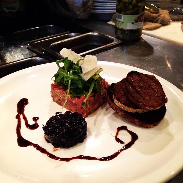 steak tartare - Characters Fine Dining, Edmonton, AB