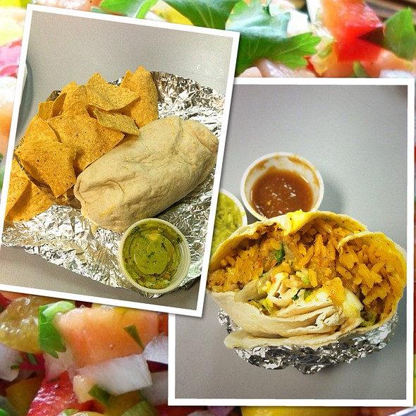 Veggie Burrito And Chips