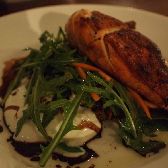 Eastern style chicken breast with fruit & nut cous cous, minted yoghurt & tomato relish