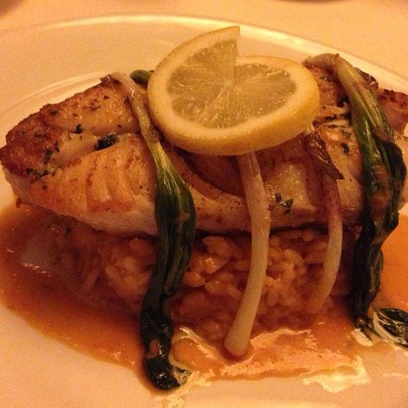 Bone In Halibut With Lobster Risotto And Ramps