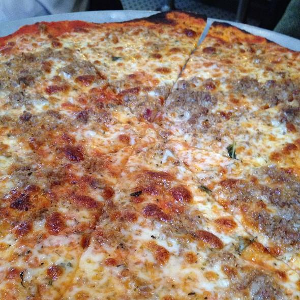 Sausage Pizza @ Vezzo Thin Crust Pizza