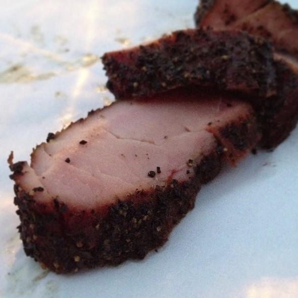 Espresso Rubbed Pork Tenderloin @ Blue Ox Bbq