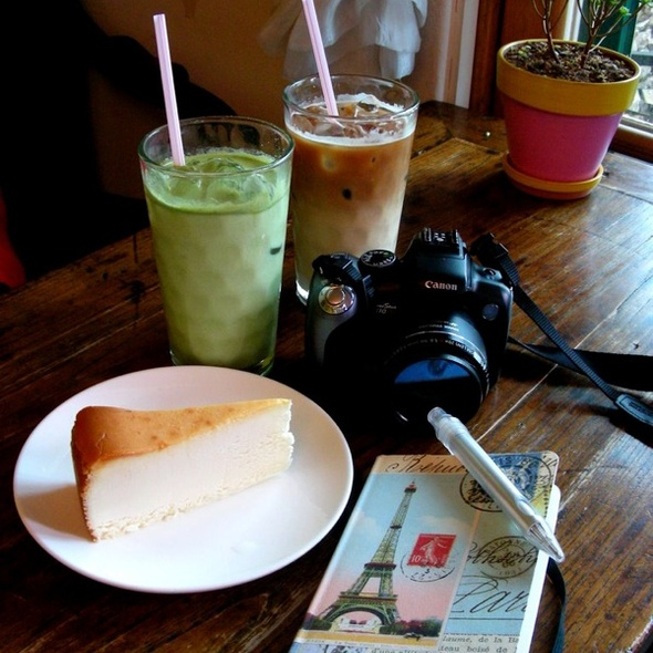 iced green tea latte @ Sanmotungi