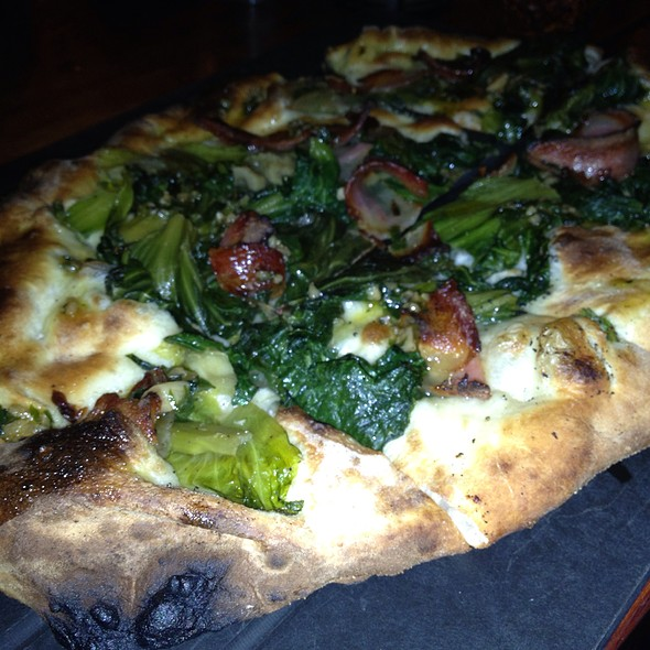 Guanciale, Braised Escarole , Bagna Cuada Pizza @ Serious Pie