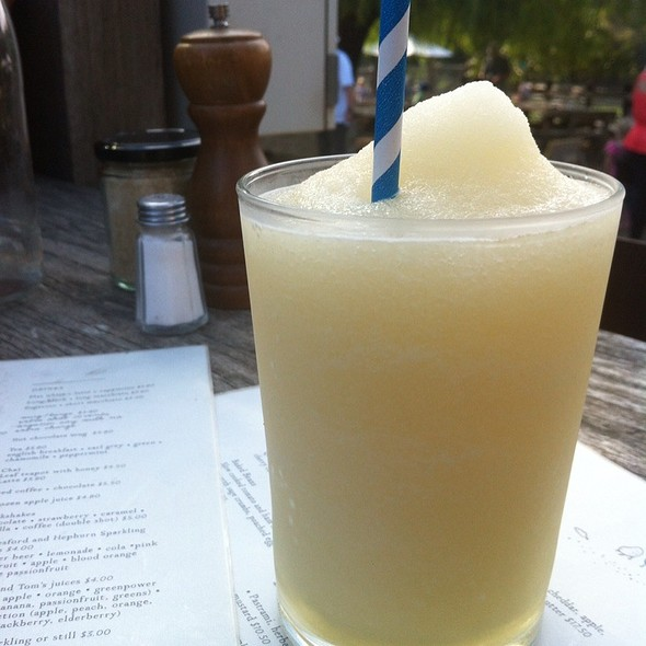 Frozen Apple Juice @ The Farm Cafe
