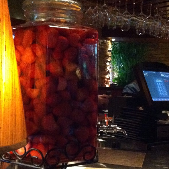 Strawberry Infused Vodka - Seasons 52 - Tampa, Tampa, FL