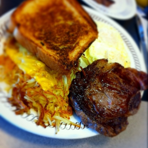 Ribeye Steak and Eggs @ Waffle House