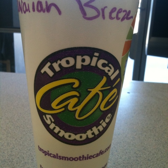Hawaiian Breeze Smoothie @ Tropical Smoothie Cafe