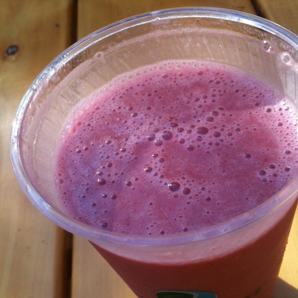 Cherry Crush Smoothie @ Crossroads Cafe