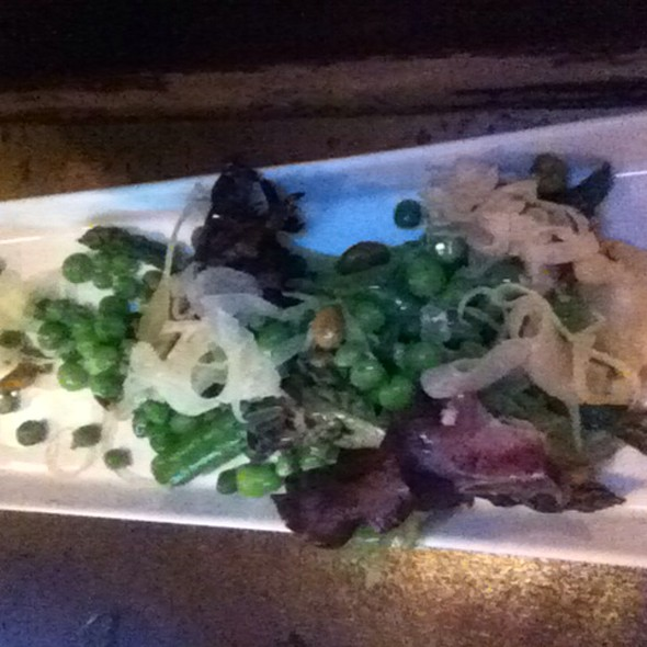 Asparagus And English Pea Salad @ Virgil's Cafe