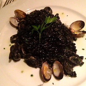 Risotto Nero With Squid And Squid Ink - Olio e Limone Ristorante, Santa Barbara, CA