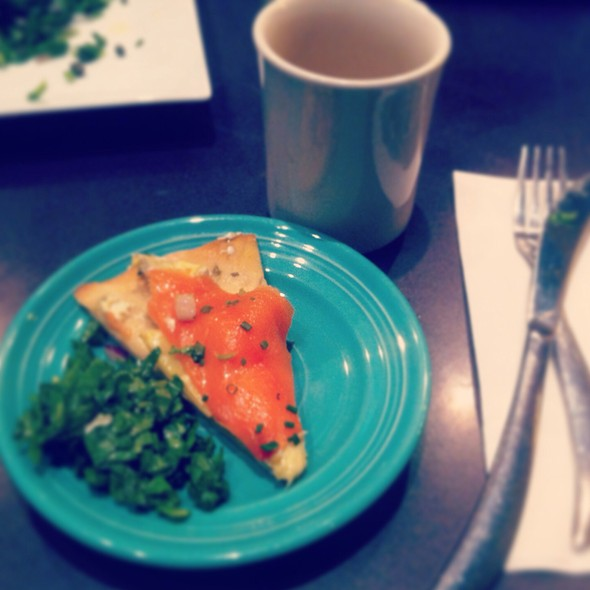 Salmon Artichoke On Toast - Pond House Cafe, West Hartford, CT