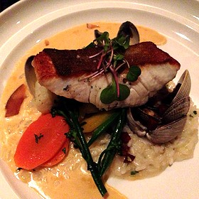 Ling Cod With Clam Risotto