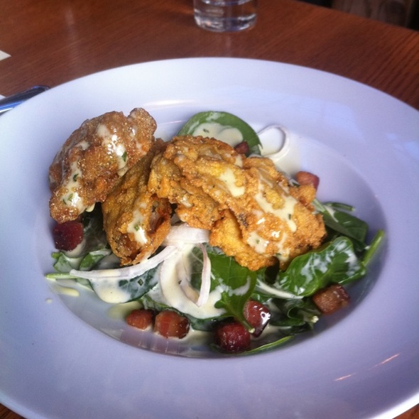 Fried Oyster Salad @ Anchor & Hope
