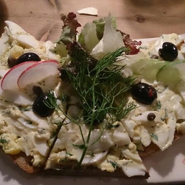 Egg Salad Tartine (close-up) @ Le Pain Quotidien