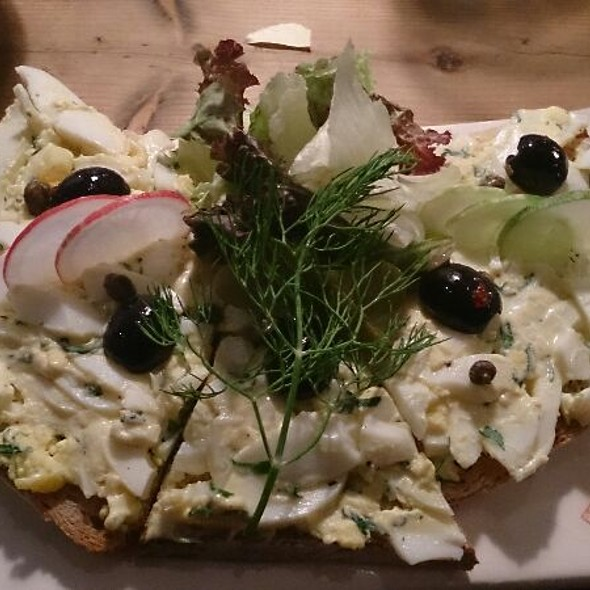 Egg Salad Tartine (close-up) @ Le Pain Quotidien