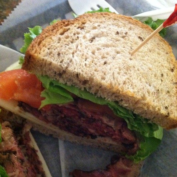 Pastrami & Cheese sandwich