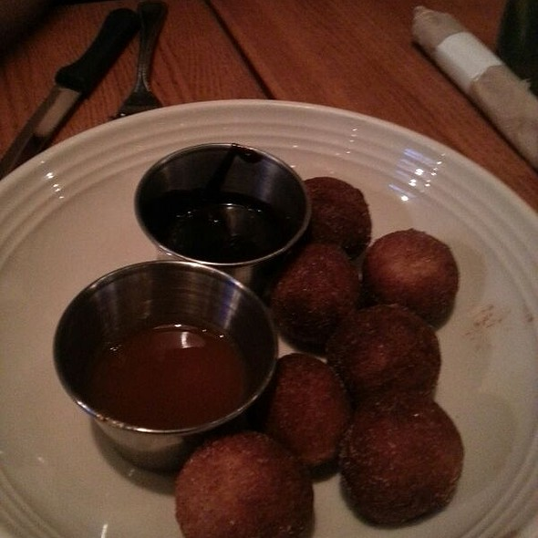 Doughnut Holes With Melted Nutella And Caramel