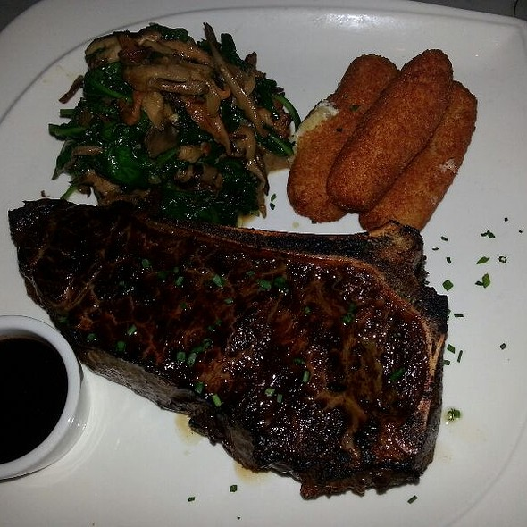 Ny Strip With Potato Croquettes And Spinach - Halcyon Brasserie, Montclair, NJ