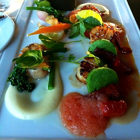 Diver Caught Scallops - The Observatory at Grouse Mountain, North Vancouver, BC