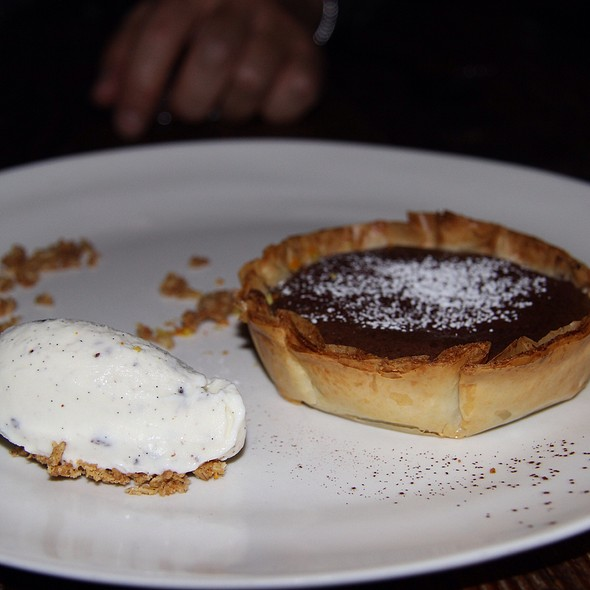 Chocolate Souffle Tart at Mercato by Jean Georges