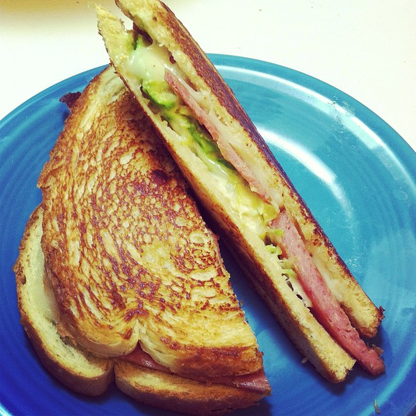 Grilled Cheese Sandwich With Spam & Avocado
