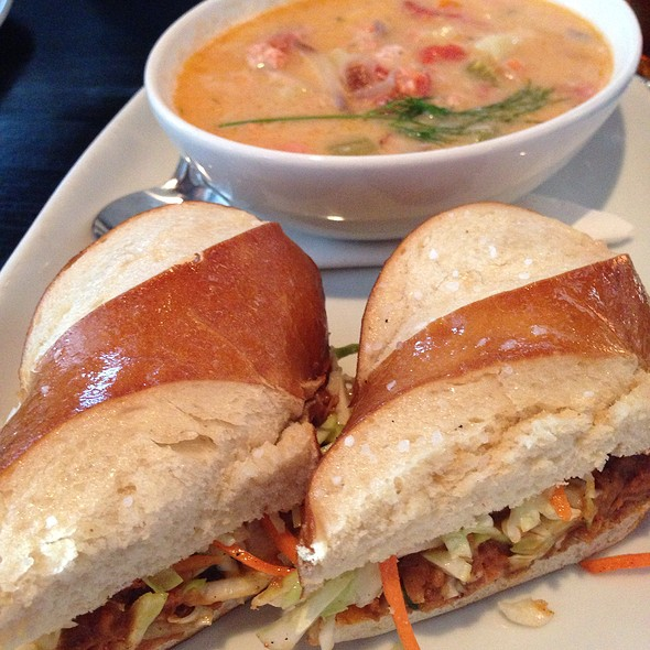 Pulled Pork Sandwich And Salmon Chowder - Big Ridge Brewing Co., Surrey, BC