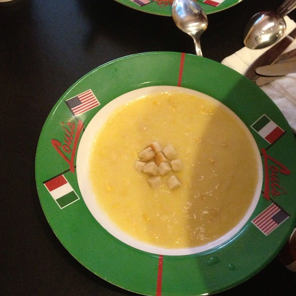 Corn Soup @ Loui's New York  Pizza Parlor