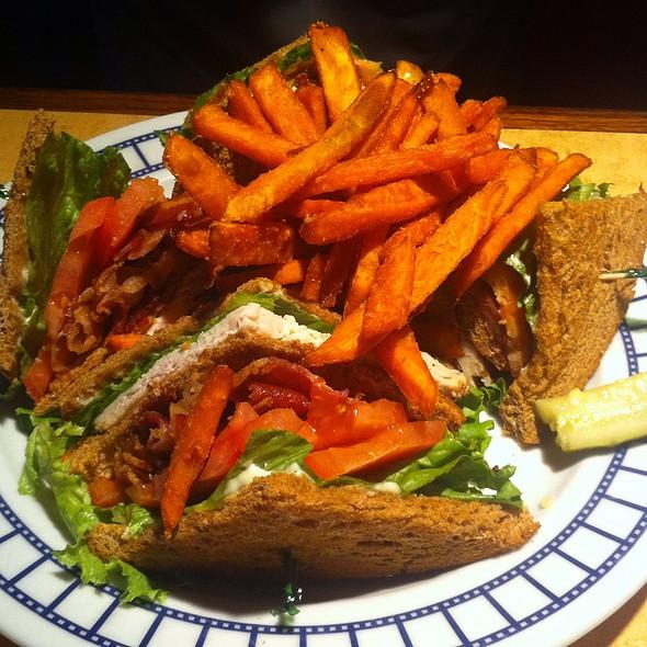 Club Sandwich With Sweet Potato Fries @ Studio Diner