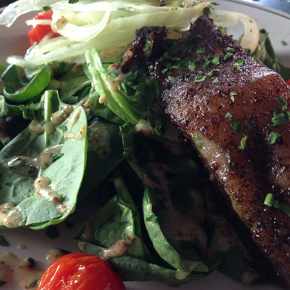 Pork Belly On Spinach Salad - Place Pigalle, Seattle, WA