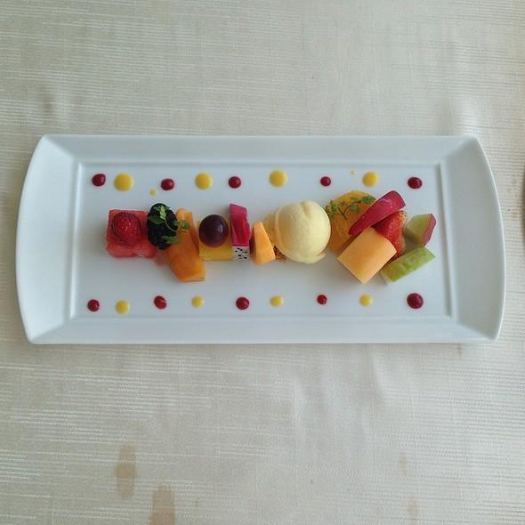 Seasonal Fruit Platter With Calamansi Sorbet @ Sky on 57
