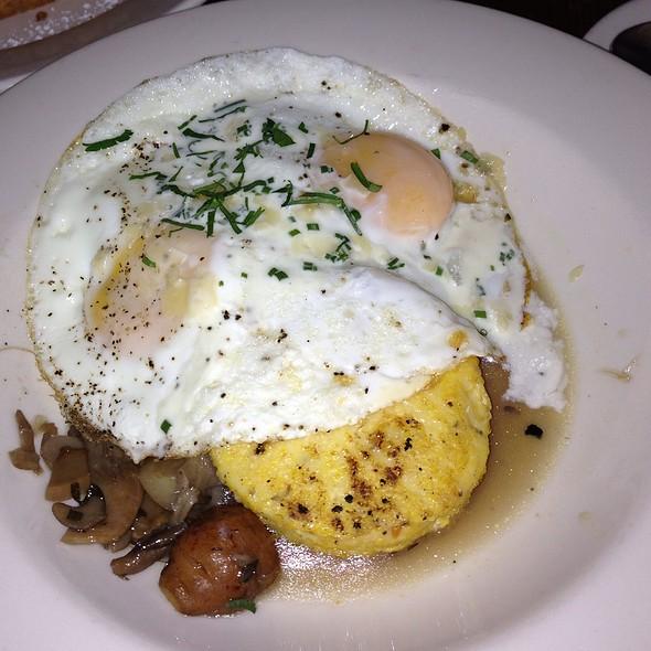 Eggs W/ Roasted Veggies, Mushrooms And Corn Cake @ Freemans