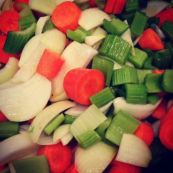 veggies veggies is all you see when your saucing. @ Roy Yamaguchi's Pacific Rim Cuisine