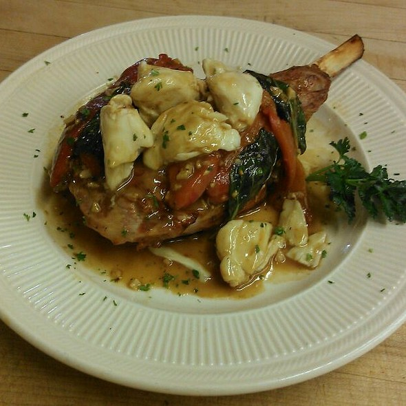 Grilled Veal Chop, with fresh basil, roasted peppers and Jumbo Lump Crabmeat  - A Touch of Italy, Egg Harbor Township, NJ