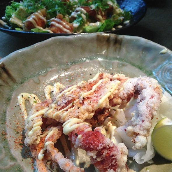 Soft shell crab and spicy tempura prawns