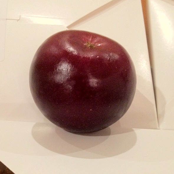 Arkansas Black Heirloom Apple @ Sir Francis Drake, a Kimpton Hotel