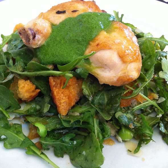 Roast Chicken W Greens And Basil Puree @ General's Daughter