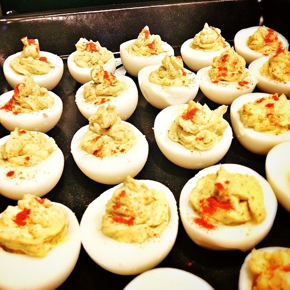 The problem with bringing deviled eggs to @thedandyproject's housewarming is that it took me over an hour to make but it'll only be seconds before they're gone. @ Reed-Ng Lab