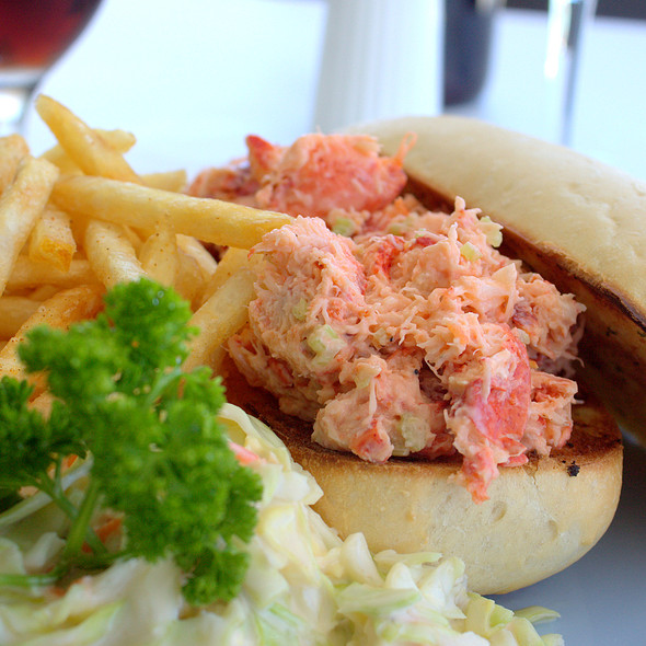 Fresh Lobster Roll @ The Beach House at Blackbeard's