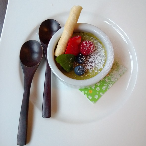 Matcha Creme Brulee @ Yuzu Sushi and Sake Bar