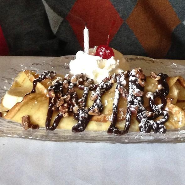 Hot Fudge Banana Crepe - Suzette's Creperie, Wheaton, IL