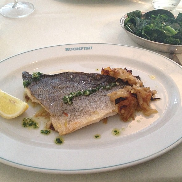 Royal Sea Bream With Fennel And Onion Plus Side Of Spring Greens The