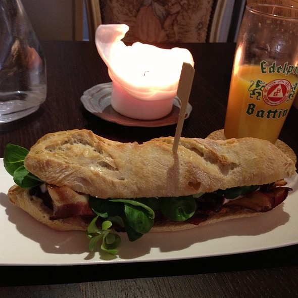 Bacon, Brie, Cranberry Sandwich @ Charles